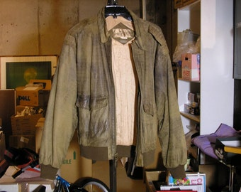 Vintage Leather Jacket Over-sized Leather Bomber/Flight Jacket Vintage Leather Jacket Distressed Leather Jacket Vtg Woman's Leather Jacket