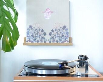 "Capá Wood Record Display / Now Spinning / Vinyl Shelf / Wall Hanging / Handmade / ""La tablillita"""