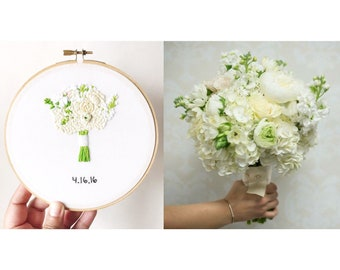Cotton Second Anniversary Gift. Embroidery Wedding Bouquet Replica Wedding Heirlooms Embroidered Bouquet Bridal Bouquet Keepsake Kimart