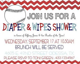 Diaper & Wipes Shower - Baby Boy Baseball
