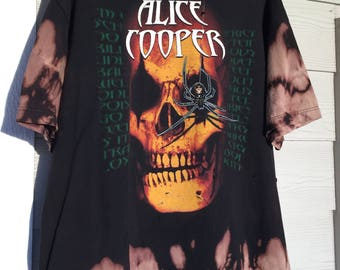 Custom // Hand Bleached // Hand Thrashed // Alice Cooper Tour T-Shirt