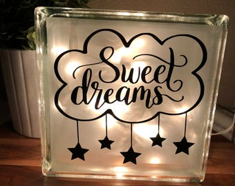 Sweet Dreams Stars and Clouds Night Light