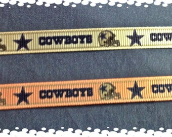 3/8 Wide Dog or Cat Pink or White Adjustable Dallas Cowboys Collar Collar