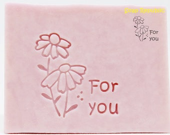 SoapRepublic 'For you' Acrylic Soap Stamp / Cookie Stamp / Clay Stamp