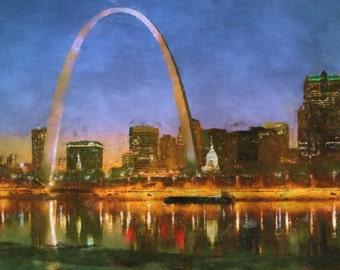 St. Louis Gateway Arch Painting Poster Print