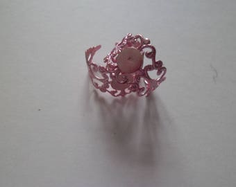 1 support adjustable filigree ring pink 18.3 mm