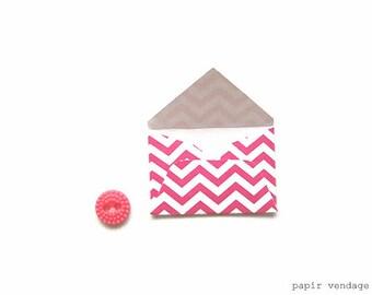 Mini Envelopes, Mini Hot Pink Envelopes, Mini Party Favors, Mini Stationary, Little Envelopes,Mini Tags, Mini Envelopes for Wedding, Mini