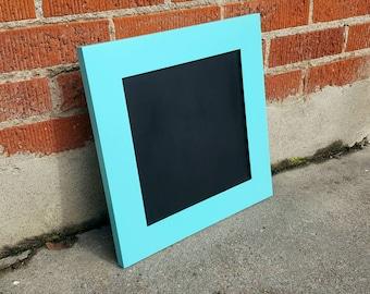 Chalk board / repurposed shaker cabinet door / blue Chalk board / home decor / office decor