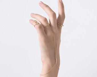 HANDCHAIN, hand chain bracelet, finger bracelet, Slave Bracelet Hand Chain,