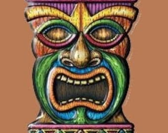 Cross Stitch PATTERN graph for Tiki totem