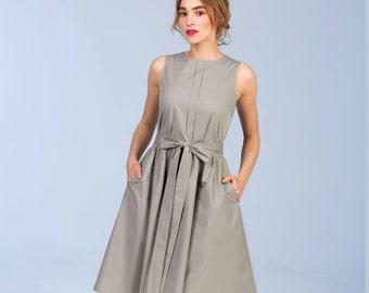 Cotton dress - grey