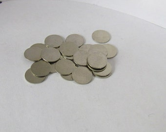 3/8 Circle Blanks - Nickel silver blanks - tiny blanks - earring  blanks - Hand stamping metal disc  -Stamping Supplies 10 or more