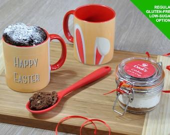 Easter egg, Easter gifts, Personalised Easter, gluten free, Easter for her, Easter bunny, Easter cake, Easter treat, Easter mug cake, kit