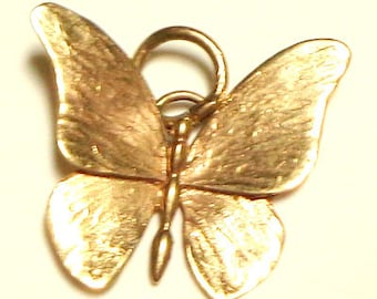 Solid 9k Butterfly, Gold Pendent,  Sweetheart Gift, Vintage  Pendent, 9k Yellow Gold Pendent, Large, Size Does Matter