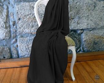 Multi-use Polar Sofa Bed Travel Fleece Blanket - Ref. Dulcelina - Black