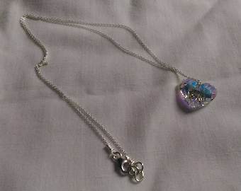 925 silver chain with Swarovski crazy 4 U Heart Crystal AB