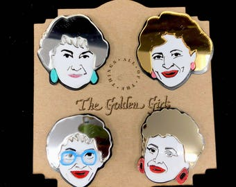 Golden Girls Acrylic Laser Cut Hat Pins - Blanche Devereaux Dorothy Zbornak Sophia Petrillo Rose Nylund - Fun Golden Girls Butterfly Pins!
