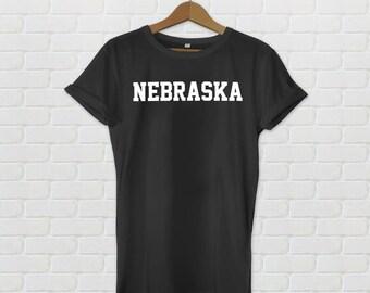 Nebraska Varsity Style T-Shirt - Black