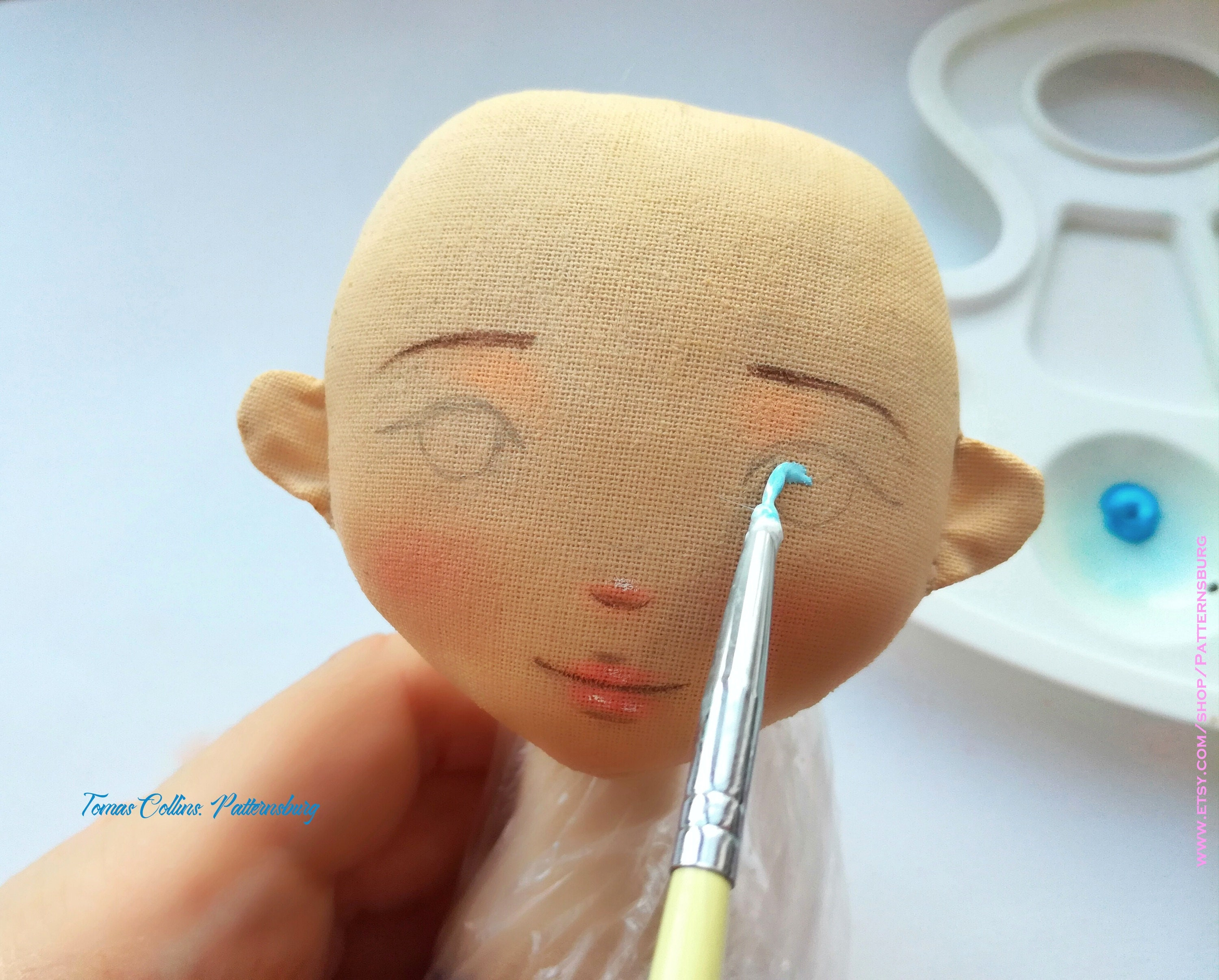PDF, pdf pattern doll painting face draw face doll paint a ...