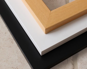 "Natural Wood Frames - Wood frames for your map - Small/Large Frames - Natural wood, white and black - Sizes up to 30"" x 40"""