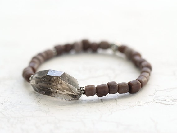 Raw Quartz Bracelet - Rough Stone Jewelry