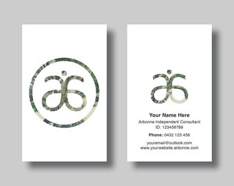 Circle business card etsy arbonne business card simplicity circle digital design colourmoves