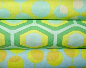 Amy Butler Fabric, Full Yard Bundle, Midwest Modern, 3 Yards Total