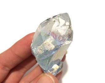 Blue aura cluster druze druzy quartz crystal point