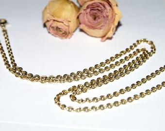 Gold link Belcher chain necklace
