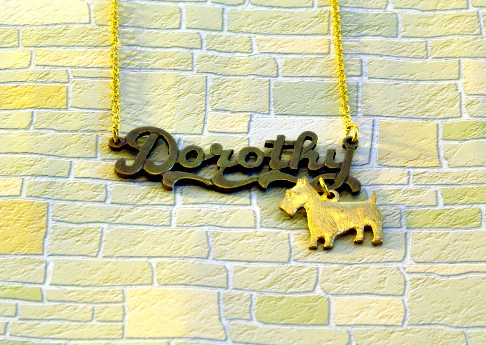 Dorothy and Toto Necklace - Wizard of Oz Jewellery - Wizard of Oz Gifts
