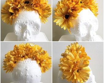 Floral Headbands, Gold