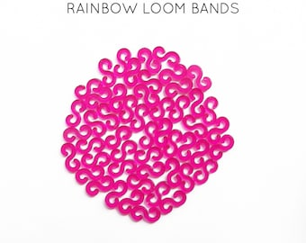 50 lobster S pink rainbow loom bands