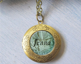 Personalized Locket, Name Necklace, Bridesmaid Necklace, Photo Locket