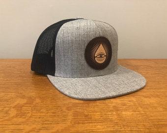 Grey/Black Trucker Snapback ODDS Hat