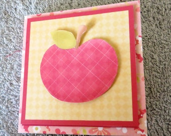 Handmade apple post it note holder.