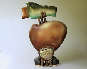 Helene Fielder Hand-built Stoneware Sculpture