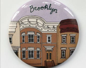 Brooklyn Brownstone BK NYC New York City Themed Magnet