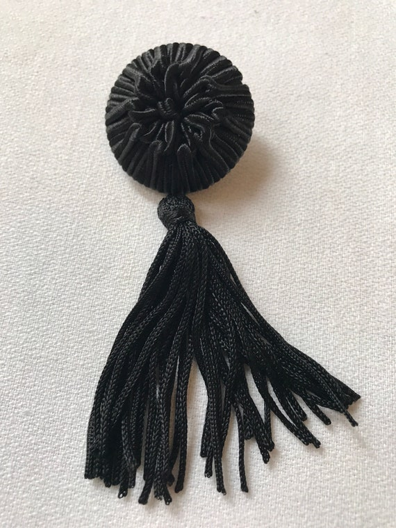 Sassy 80s Vintage Back Tassel Brooch Pin to Spice Up Your Outfit