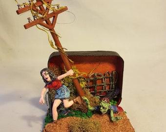 Zombie Apocalypse miniature diorama #2
