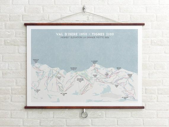 Val dIsre Tignes Ski Piste Map Espace Killy Ski