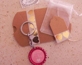 """FAMILY collection: """"Mama for life"""" keychain and a complete gift package"""