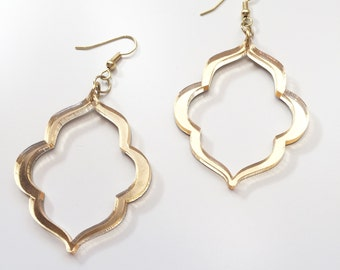 Acrylic Quatrefoil Earrings