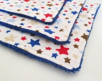 Patriotic Stars Washies - Set of 3