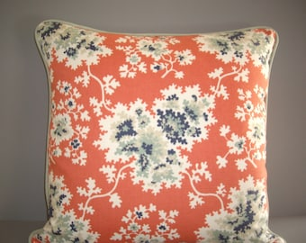 retro pillow cover with contrast welt