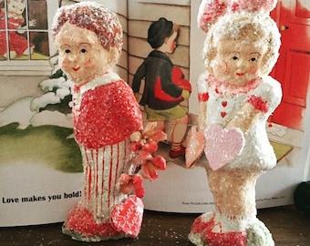 Valentine sweethearts papier mache Teena Flanner Original