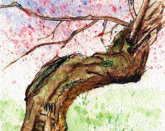 Toronto Art // Watercolor Giclee Print // Giclee Print of Original Watercolor Painting -Cherry Blossom @ High Park Toronto (Limited Edition)