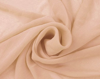 BLUSH-D Solid Hi-Multi Chiffon Washed Fabric by the Yard - Style 501