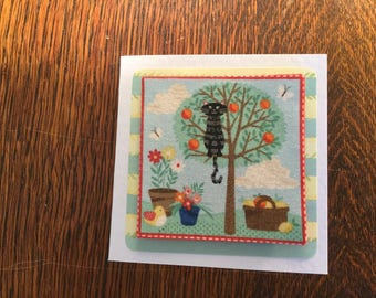 Fabric Cat Card's 2 - see variations