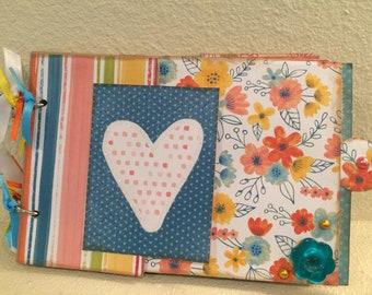 Springtime Paper Bag Album