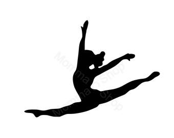 Gymnastics 1 Instant SVG Digital Download One Color File Cuttable**